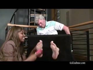 old men tickled feet