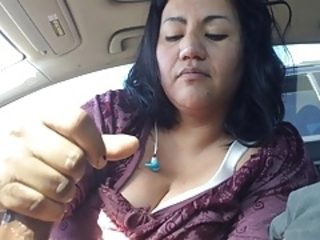 Mature latina gives hand job