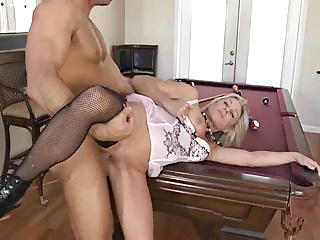 Husband fucks on pool table
