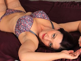 Horny Brit housewife frolicking alone
