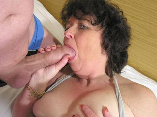 This naughty mama likes to get humped by 2 dudes