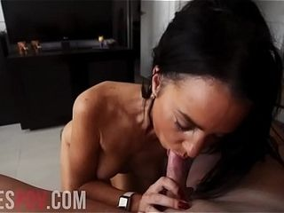 Australian sex industry star MADDISON STEWART point of view oral pleasure &amp_ jizz flow