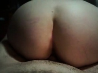 Lustful brunette wife with a wonderful ass gets nailed by a young stud