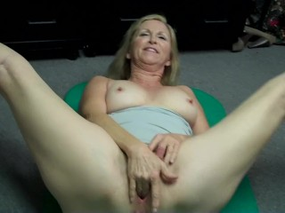 Granny jerking then pervs OUT at pornography audition (Behind the Scenes)