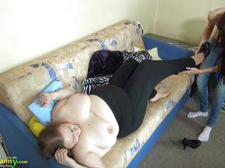 Huge Strapon For Huge Old Nanny