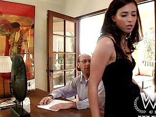 Sexy brunette housewife Casey Calvert gets fat