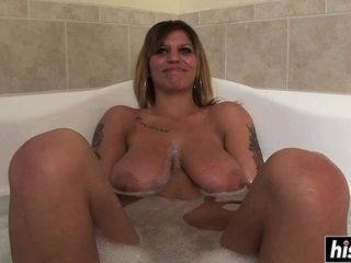 Tattooed tolerant relaxes all over dramatize expunge bathtub