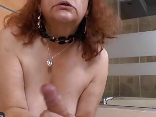 Old and fat bbw mature latina enjoying licking