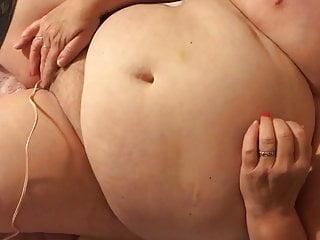 Plus-size wifey spunks rock hard