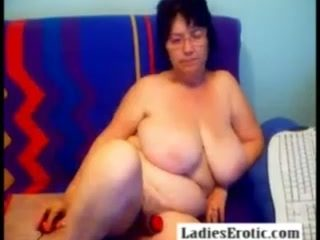 I would desire this nasty big breasted BBW granny mount me for a 69