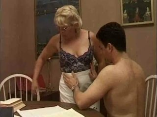 My private teacher hasn't given up on her sex life and she fucks like mad