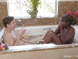 At handterracial lady-love at hand put emphasize Bathtub