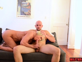 Fat bowels milf sexual relations together with cumshot