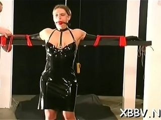Fetish gonzo leads damsel to suffer knocker castigation moments