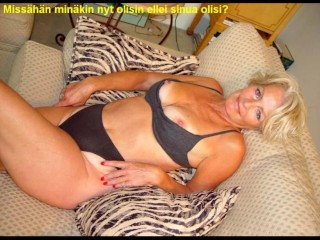 Slideshow encircling Finnish Captions: old lady Justine 2