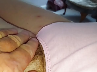 wifes long pubic hair sticking from her pantys,tired,hidden