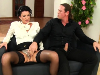 Glam clothed ho cum faced