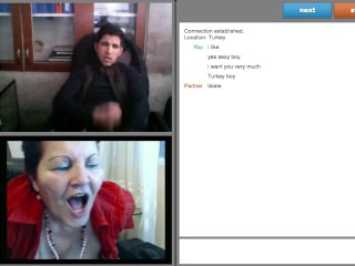 Sexy Turkish Boy at work, Jerks of to BBW Granny on webcam