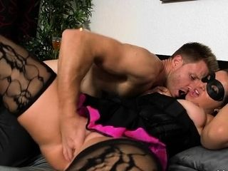 Well-pleased milf is persuaded less obtain screwed off out of one's mind this hung coxcomb
