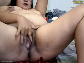 Abusive Pinay Granny Fingers Cunt arse Squirts ATM Pees Vomits unaffected by Chaturbate