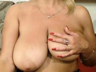 My mother enjoy with huge breasts