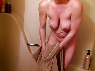 Drying myself off. Wanna help?