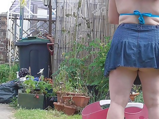 hanging washing with a new skirt