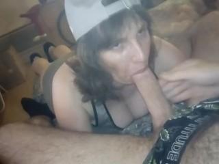 Cougar mag deep throating