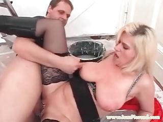 I am Pierced MILF Marina Pierced pussy in stockings cock rid