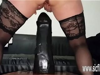 Colossal fuck stick nailing inexperienced wifey Sarah