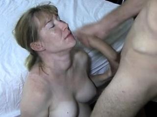 Partner sucks on large bull while husband movies