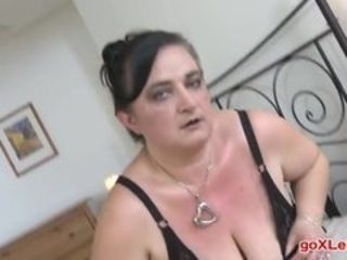 Mature Stefanca C 42 years Big Breasted BBW Fingering Herself