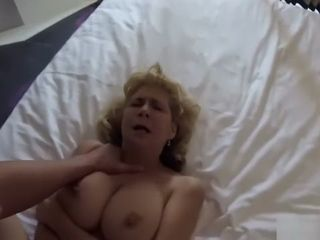Sex-positive elderly grannie takes youthfull pipe point of view motel bang