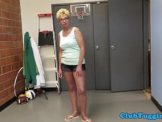 Spex mature stepmom jerking stepsons cock