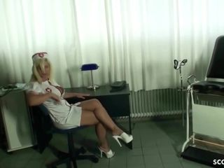 GERMAN damsel cougar medic NADJA HELP PATIENT WITH nail