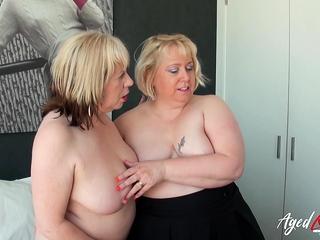 AgedLovE super-steamy Mature Trisha and Lexie Cummings Groupsex