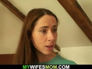 Yam-sized mom in-law railing cock