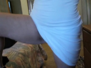 Curvaceous blonde housewife exposes her fabulous body for t