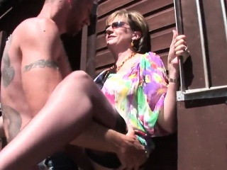 Unfaithful english milf gill ellis shows her giant naturals