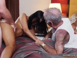 Older fur covered mothers smashing Staycation with a mexican sweetie