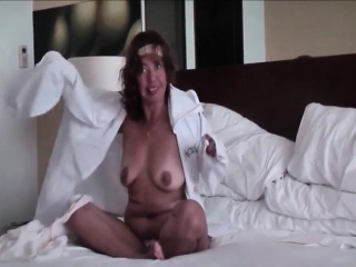 Adult wife reveals underwear and her breasts
