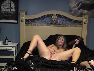 huge black dildo in wet mature pussy