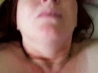 BBW wife has her pussy rammed - POV
