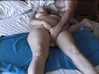 Lewd all naturally pale and plump housewife of my friend masturbated slit