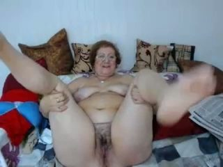 Amateur brunette ugly awful bitch was busy with her masturbation on bunk bed
