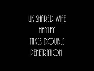 UK shared wife Hayley takes double penetration