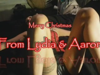 Xmas2014 Homemade ass and pussy stuffing - Lydia and Aaron - creampie clean