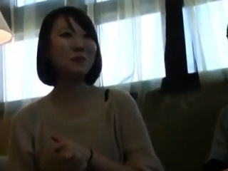 Subtitled CFNM Japanese milf tiro stick blowjob