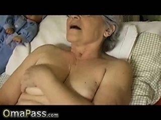 OmaPass Gray haired granny enjoying life
