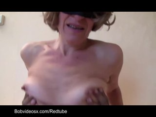 Hairy mature fucked by a big black cock